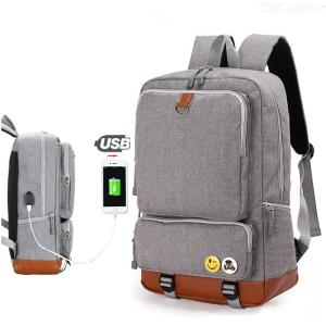 Laptop Backpack Large Capacity Computer School Bag Travel Business Daypack With USB Charging Port