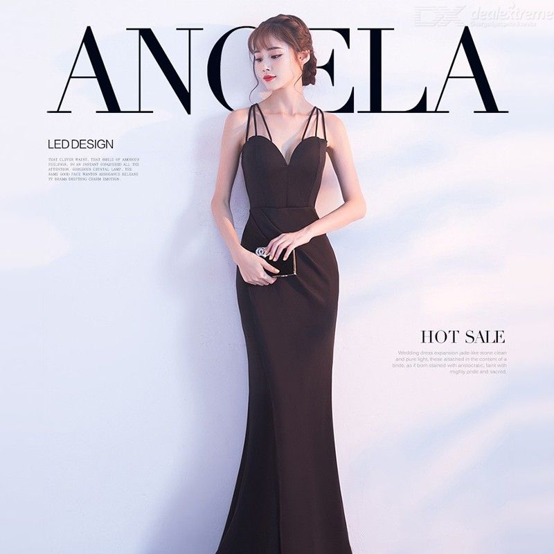 Women's Evening Gown Noble Elegant Slim-fit High Waist Sweetheart Neck Maxi Dress Fishtail Dress for Cocktail Party Prom Banquet