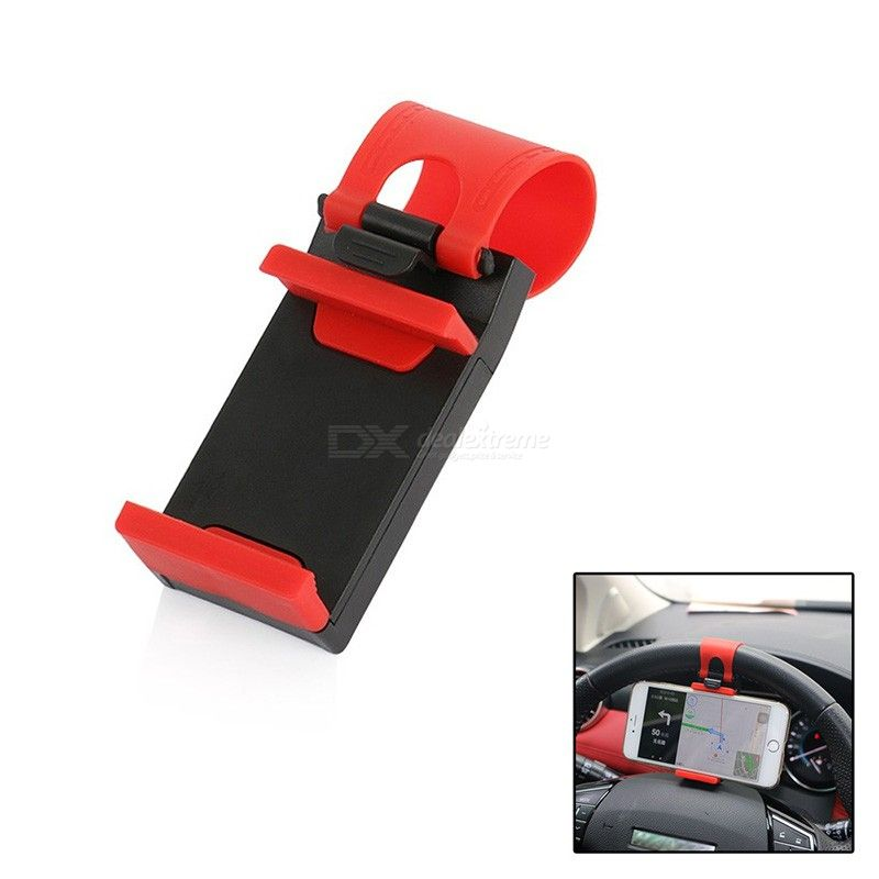 Mini Air Vent Steering Wheel Clip Mount, Universal Cell Phone Mobile Holder For iPhone Support Bracket Stand