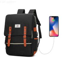 Laptop Backpack Waterproof Business School Computer Bag With USB Charging Port