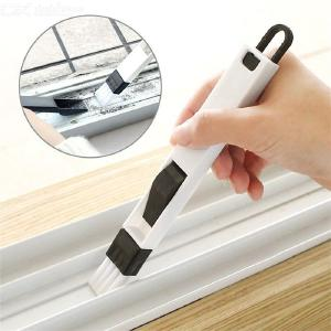 Window Track Cleaning Brush Dustpan Cleaning Brush 2-in-1 for Window Groove Corner Keyboard Sliding Door Gap Cleaning
