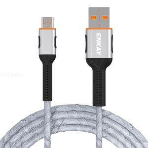 ENKAY USB 2.0 A to Micro B Charger Cable 2.4A Fast Charging Data Sync Cable Nylon Braided Tangle-free Android Cable, 1m/ 3.3ft
