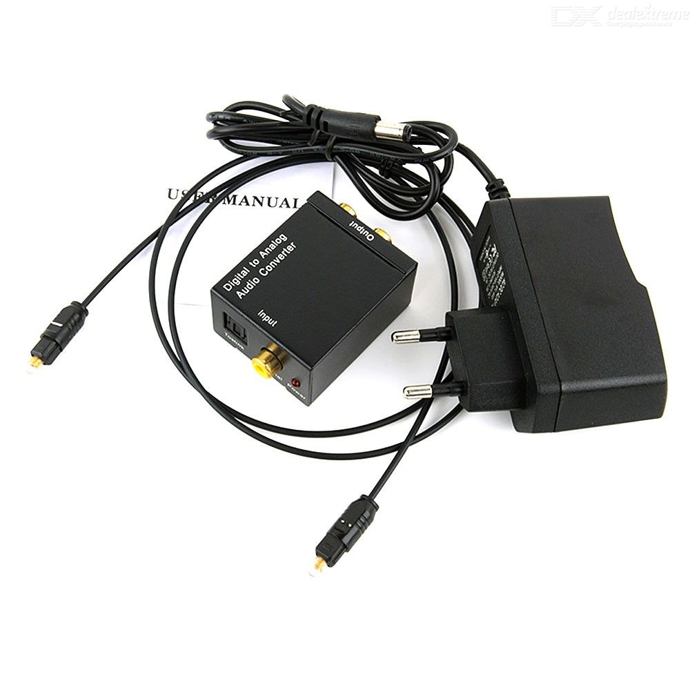 96KHz Digital To Analog Audio Converter DAC Coaxial Or Toslink Audio To L/R Audio