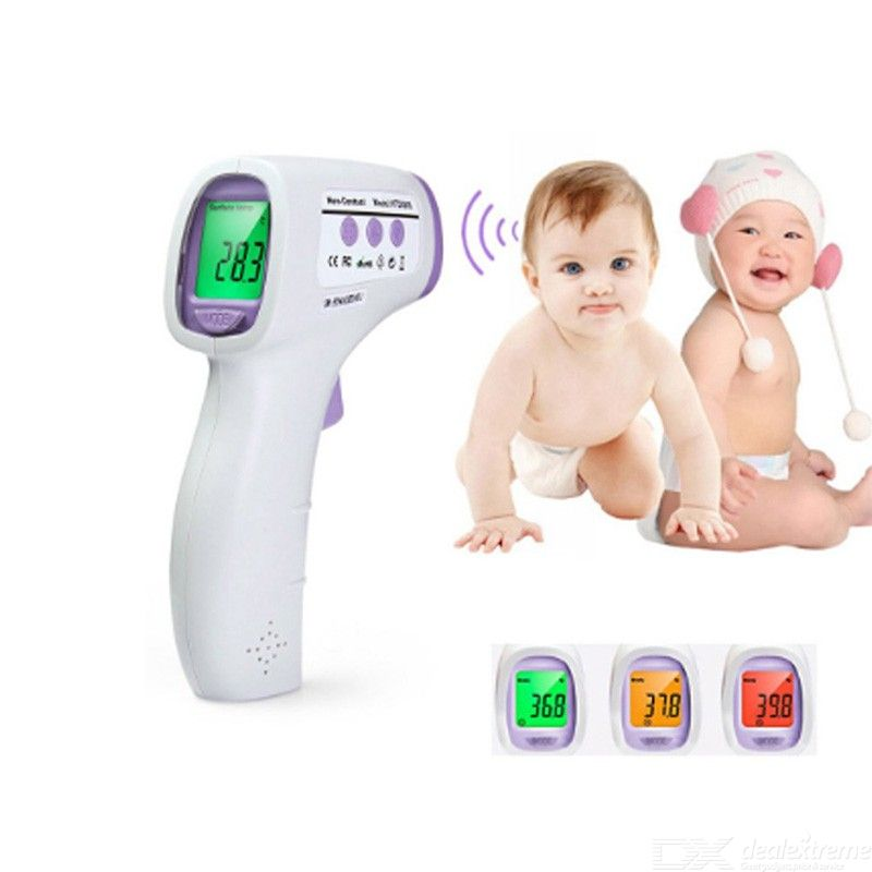 Noncontact Infrared Thermometer Digital Fever Thermometer with LCD Display and Fever Alarm for Baby Adult