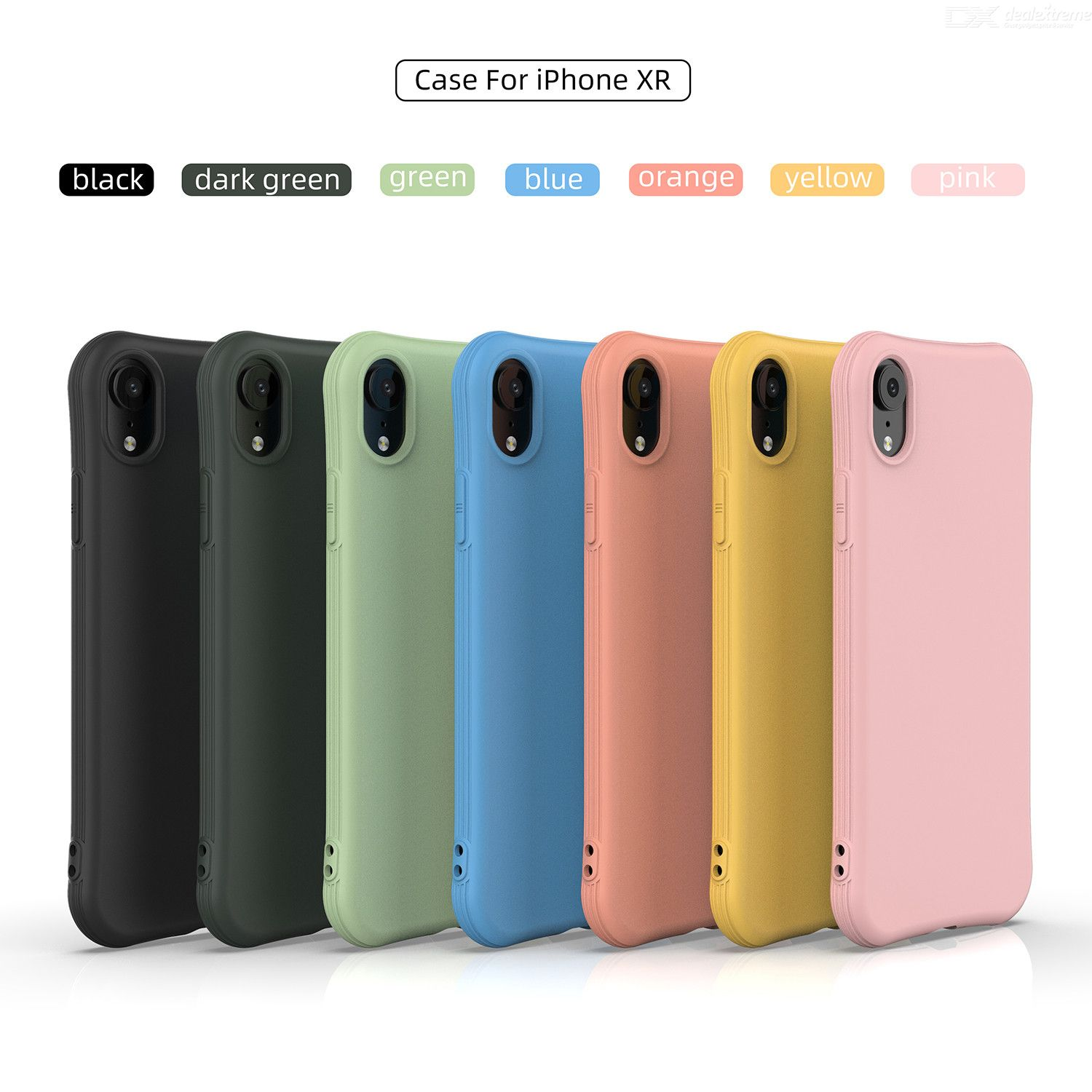 ENKAY ENK-PC004 Solid Color TPU Slim Case Cover For iPhone XR