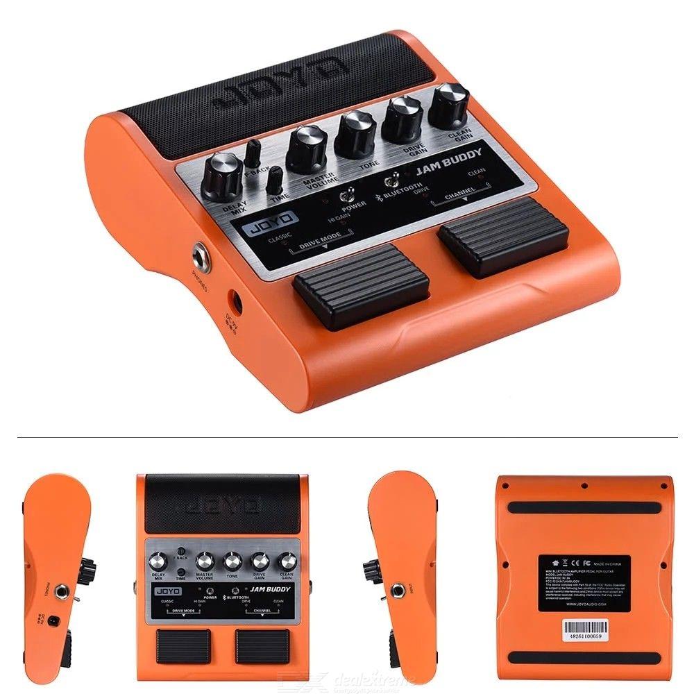 JOYO JAM BUDDY Portable Rechargeable Pedal Style Guitar Amplifier, Rechargeable BT 4.0 Dual Channel Amp Speaker - US Plug