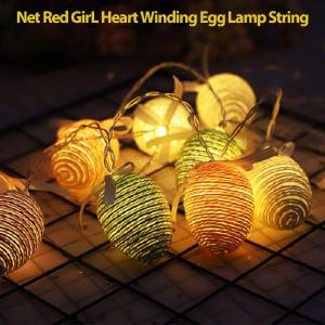 Warm White Egg LED Easter Xmas Wedding Battery Operated String Fairy Light For Home Decoration