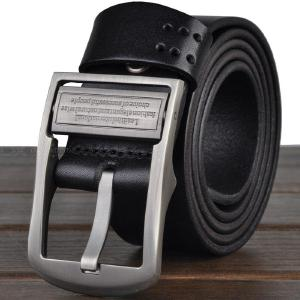 Premium Leather Belt With Rotary Pin Buckle For Men Casual Business Use