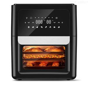 13QT XXXL Air Fryer Oven With 41 Recipes, 360 Degree Spin Fan Super-Heated Cyclonic Air, 1700W Fast Cook 8 Cooking Presets