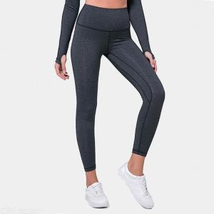 Womens Solid Color Yoga Pants Breathable Fitness Trousers Elastic Sports Tights