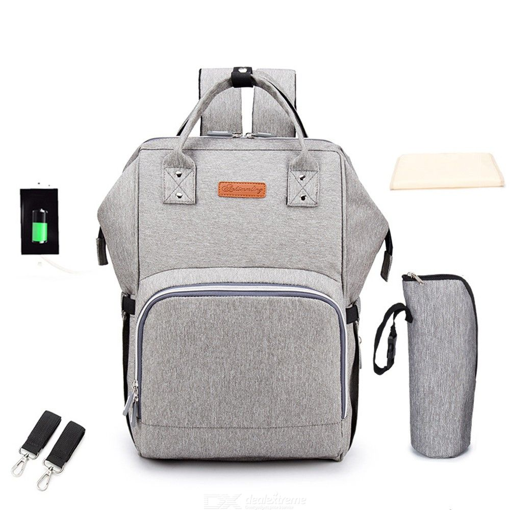 Multifunctional 20L Large Capacity Mummy Backpack Diaper Bag For Outdoor Travel