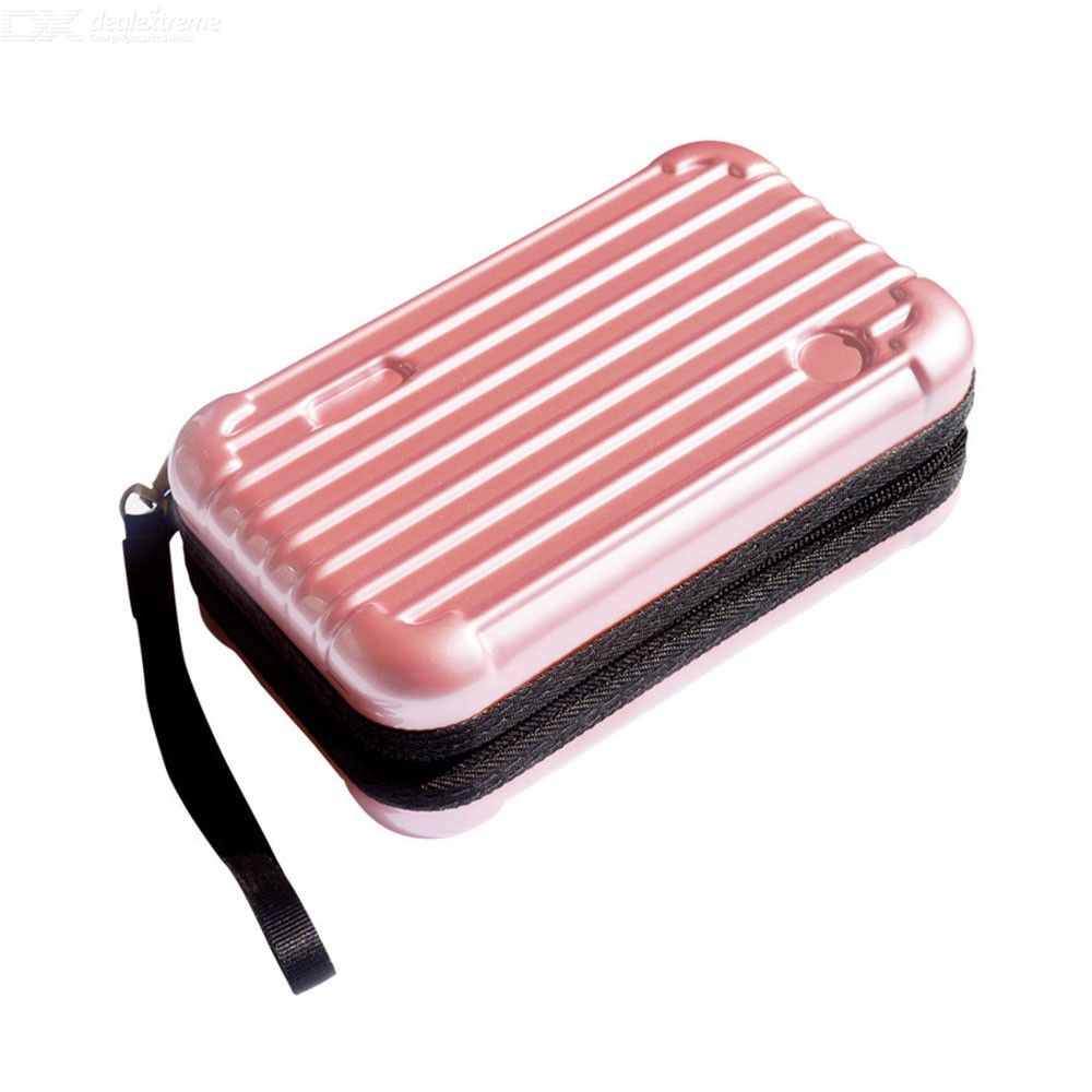 Portable Makeup Storage Bag Mini Multifunctional Suitcase Type Cosmetic Pouch For Home Travel