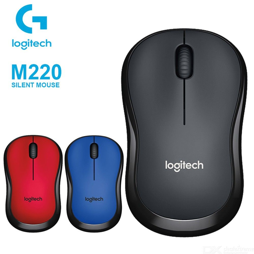 Logitech M220 2.4GHz Wireless Silent Mouse, High-Quality Optical Ergonomic PC Gaming Mouse