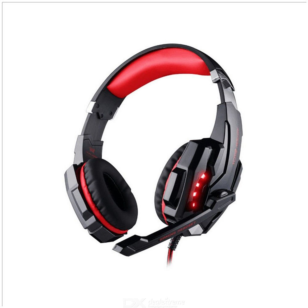 G9000 Portable 3.5mm Wired USB PS4 Gaming Headphone Computer Headset With Mic And LED Light Effect
