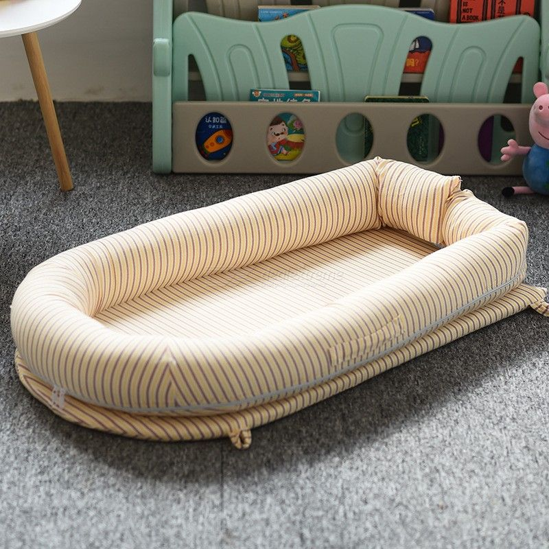 Portable Soft Cotton Baby Lounger Bed Newborn Nest Crib Mattress For 0-3 Years Old