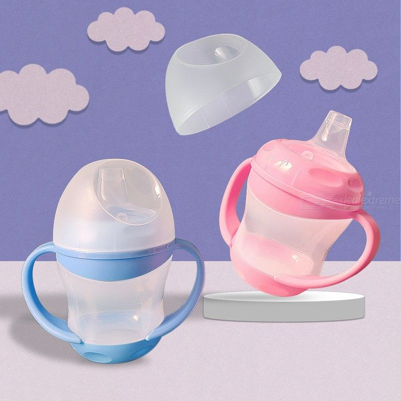 160ML PP Spout Training Cup Baby Sippy Cup Feeding Bottle With Handle