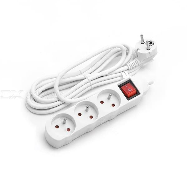 3 Way/4 Way/5 Way Socket Outlet 3G1.5M European Type Extension Lead French Type Power Strip