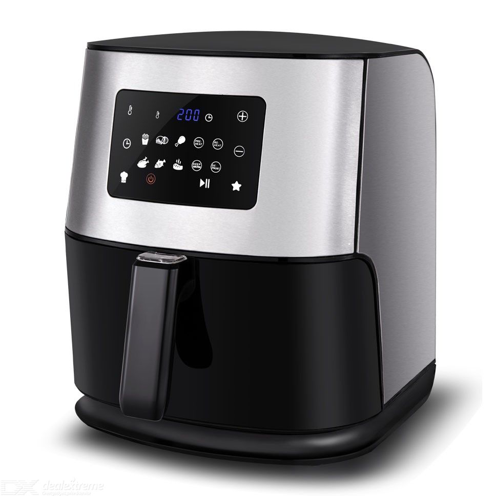 AFE08 Electric Air Fryer Touch Control Hot Air Fryer Family Size 6.0 Liters UK Plug