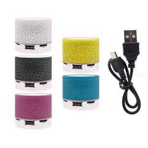 Wireless Bluetooth Speaker Mini Portable USB Bluetooth Speaker With LED Microphone Stereo Sound For Phone Xiaomi Computer PC