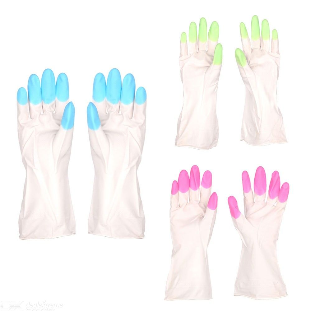 Household Gloves Waterproof Rubber Gloves For Kitchen Bathroom Dishwashing Cleaning Washing Up