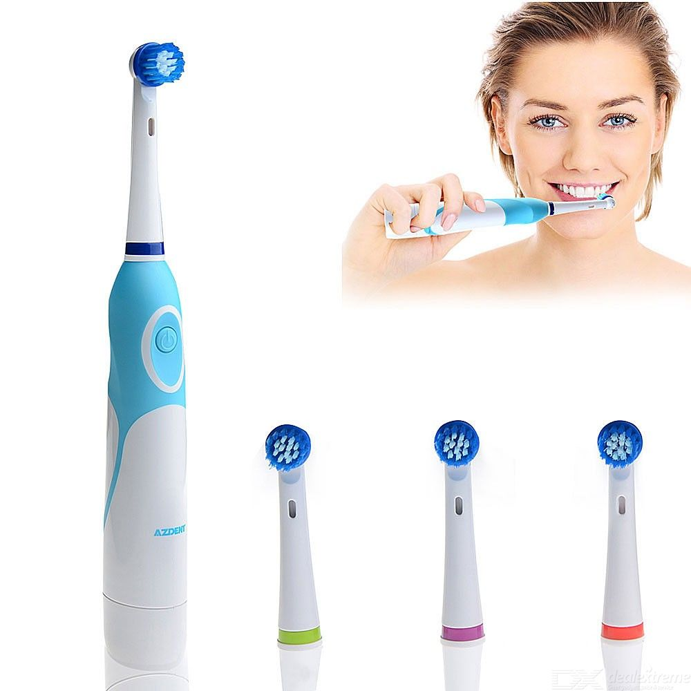 Electric Toothbrush Rotating Vitality Tooth Brush Deep Clean Teeth Inductive Rechargeable Replaceable Brush Head