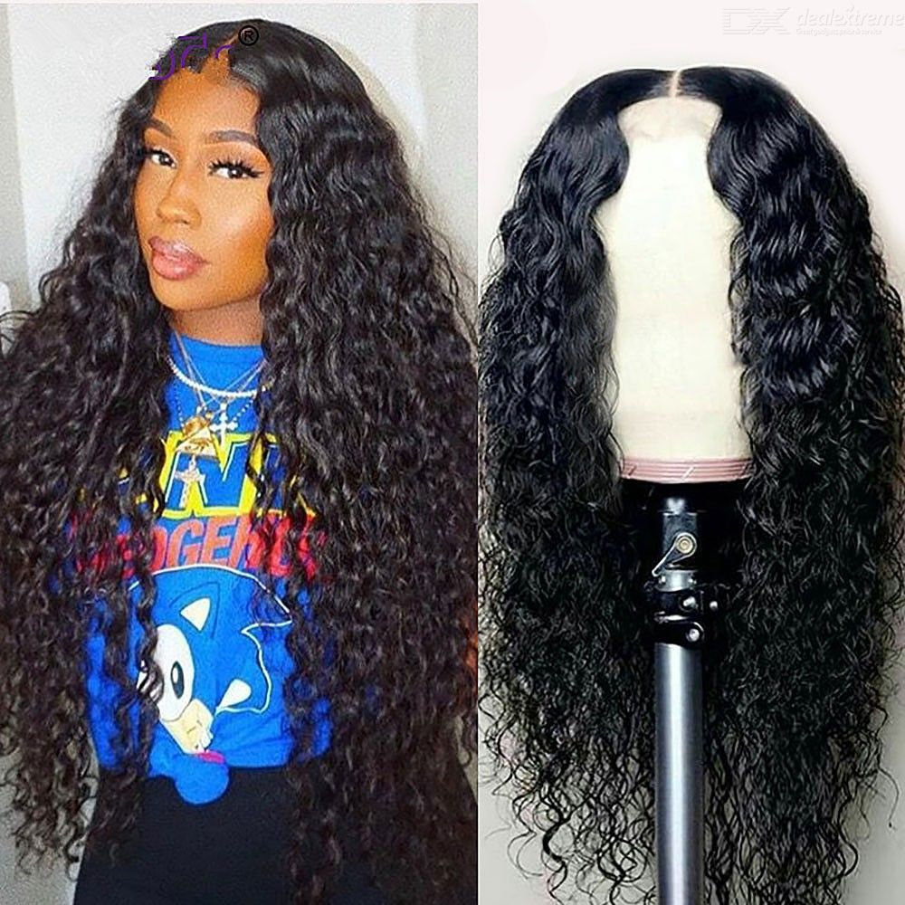 Black Long Curly Synthetic Wigs High Temperature Fiber Hairpiece Wig For Women