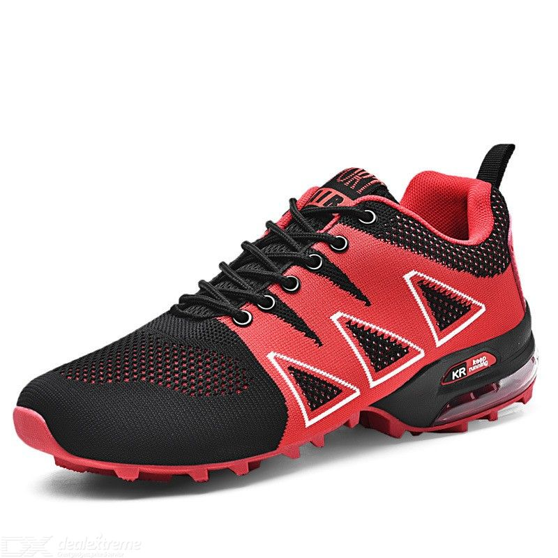 Breathable Fabric Mesh Soft Hiking Shoes Outdoor Sports Gym Shoes Lace Up Sneakers For Men
