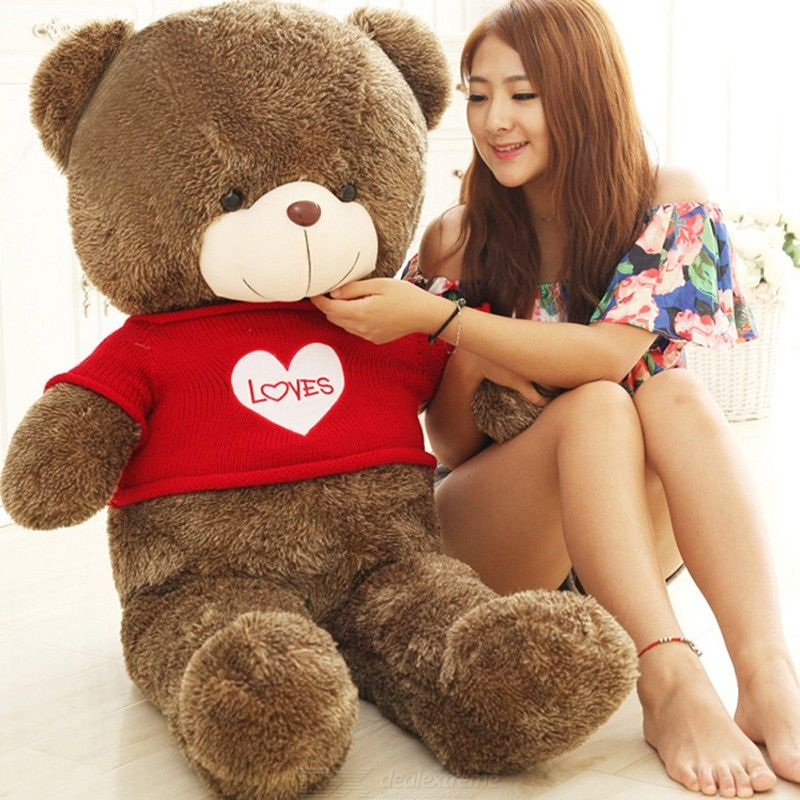 Cute Teddy Bear Plush Doll Stuffed Animal Toy For Kids Girls Gift Home Decoration