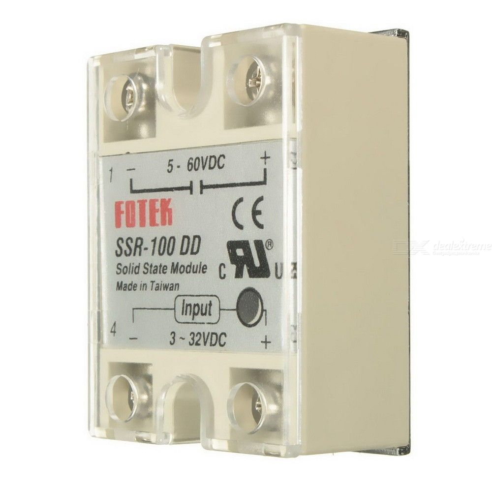 SSR-100 DD Solid State Module Solid-state Relay DC-DC 100A 3-32V DC/5-60V DC Elec-Mall