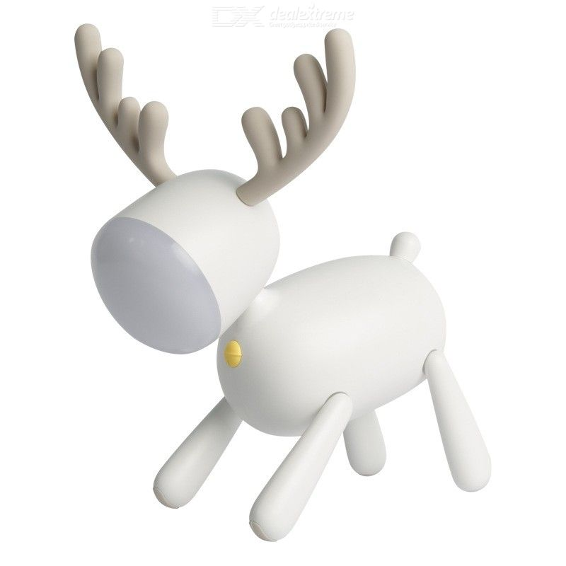 Night Light Cute Rechargeable Reindeer Nightlamp For Bedroom