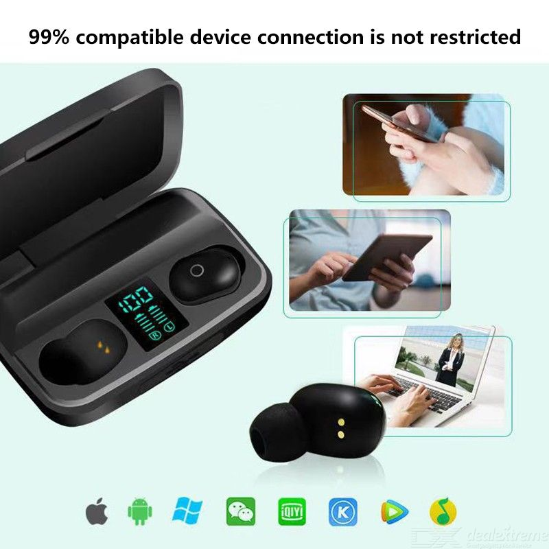 A10S TWS Wireless Headset Bluetooth 5.0 Sports Earbuds Earphone With LED Display Charging Box