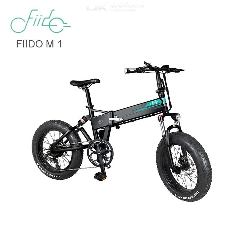 FIIDO M1 Aluminum Alloy Folding Electric Bicycle With Pedal And 20-Inch Tire, 12.5Ah Battery