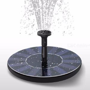 Round Solar Fountain Pump, Floating Solar Powered Panel For Garden, Pool - Black