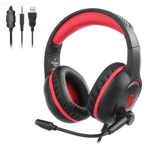 KUBITE Wired Gaming Headsets PC Computer 3.5mm Over-ear Headphone With Microphone K-13