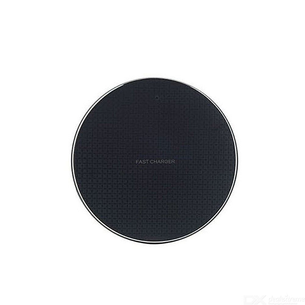 Slim Round 10W Wireless Charger, Universal Qi Fast Wireless Charging Pad For IPhone Samsung Android Phones