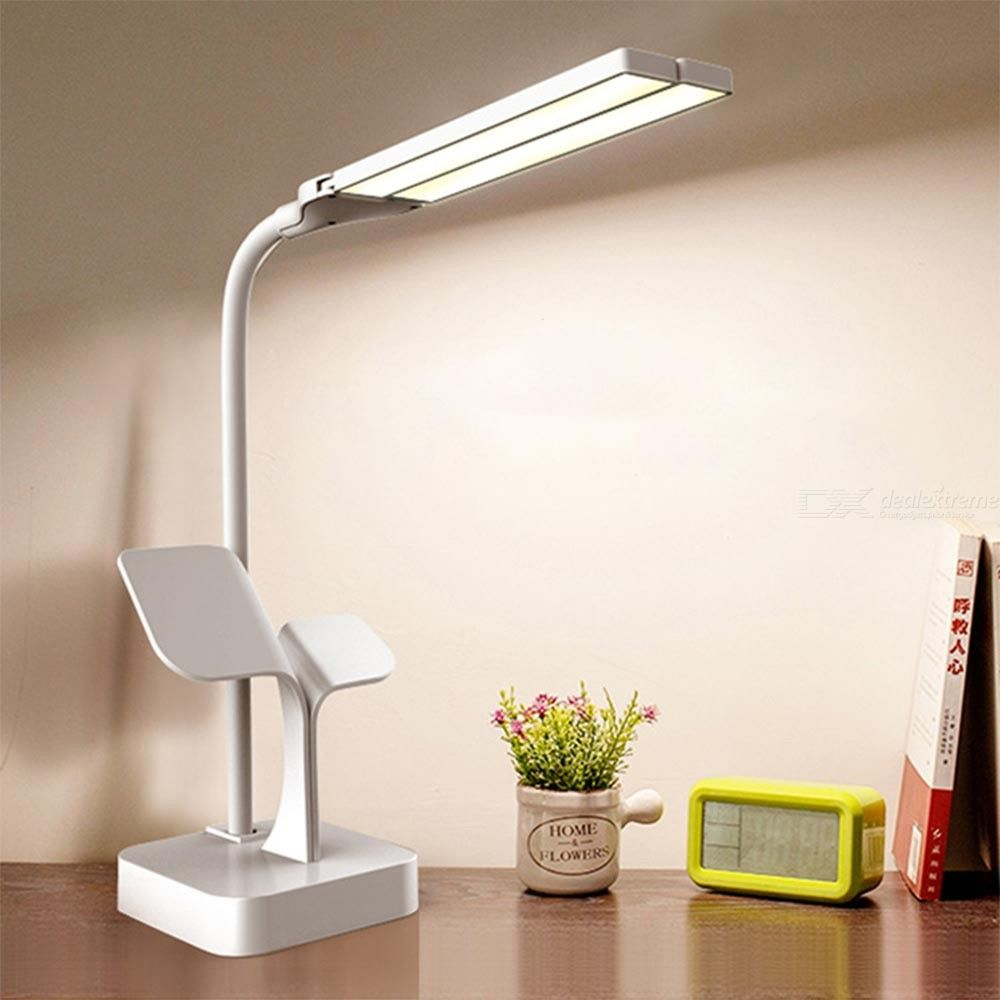 LED Desk Lamp Eye-Caring Table Lamp USB Rechargeable Dimmable Office Lamp Reading Lamps For Bedside Table