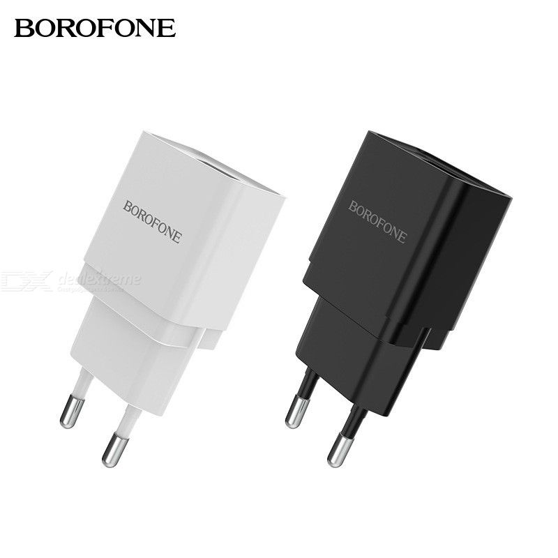 Borofone BA19A USB Wall Charger, Mini Single USB Travel Charger Power Adapter For IPhone Android Phones Tablets - EU Plug