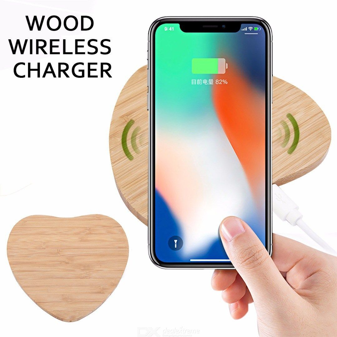 Wireless Charger Wooden Wireless Charging Pad For IPHONE Samsung Sony Huawei LG