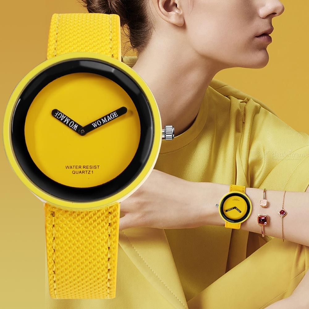 Fashion Women Quartz Watch With Leather Strap, Simple Waterproof Ladies Young Girl Wristwatch