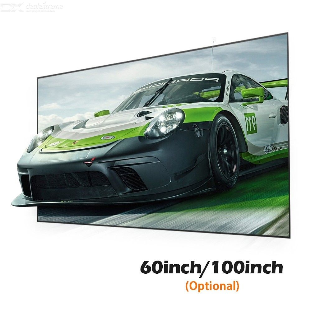 AUN 16:9 100 Inch Anti-Light Projection Screen For Home Theater
