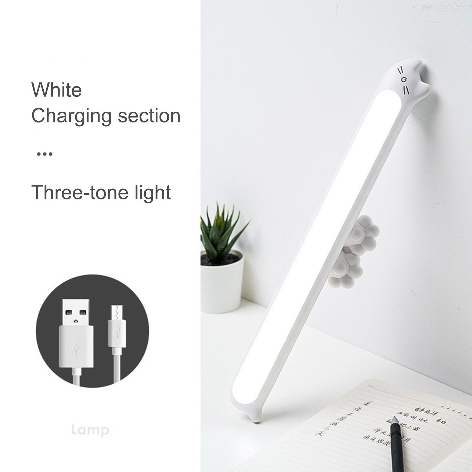Closet Light Eye-Caring USB Rechargeable Cordless Stick-On Anywhere Under Cabinet Light For Wardrobe Cupboard Bedside Kitchen