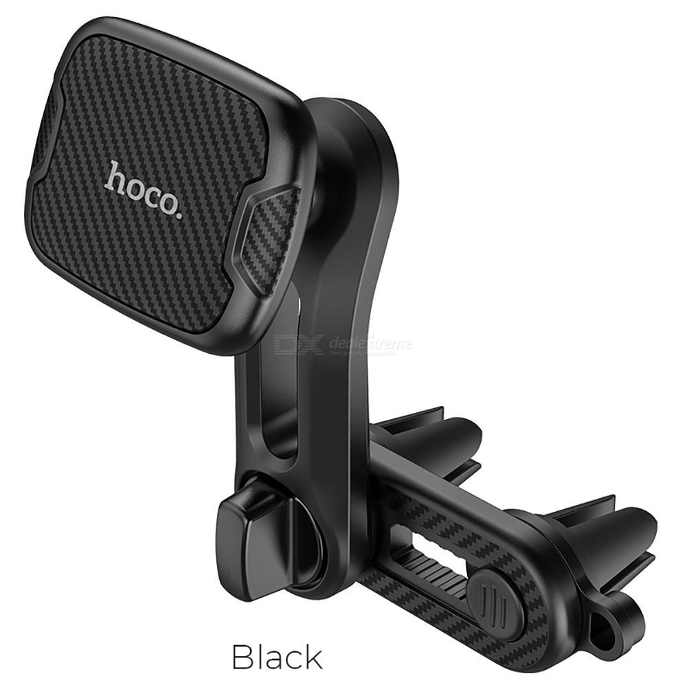 HOCO CA68 Car Bracket, Universal Dual Air Vent Car Outlet Mount Magnetic Phone Holder