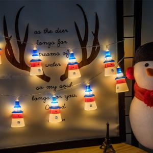 Navy Wind Small Lighthouse LED Light String For Room Party Festival Decoration