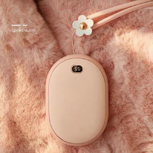 Cafele Rechargeable Hand Warmer Power Bank 2-in-1 Mini Portable Charger 10000mAh High Capacity Type C External Battery Pack