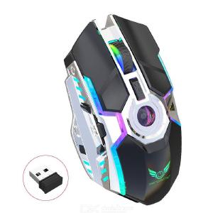 ZERODATE T30 Universal 2.4G Wireless Optical Gaming Mouse, Rechargeable Ergonomic Mice With RGB LED Light For Computer Laptop