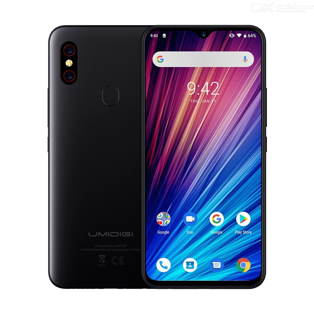 UMIDIGI F1 Play Double 4G Smartphone, with 6.3Inch Screen Android 9.0 6GB RAM 64GB ROM 5150mAh Large Battery