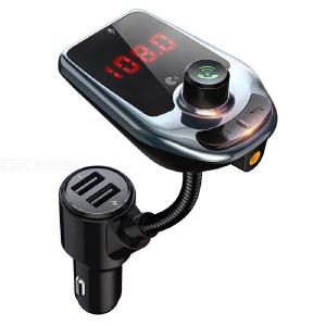 D5 Car MP3 Player FM Transmitter Bluetooth 5.0 Hands-free Kit Dual USB Charger With LED Display For Mobile Phone