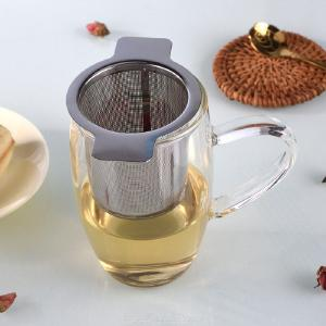 304 Stainless Steel Mesh Tea Strainer Infuser With Double Handle Coffee Teapot Filter Steeper