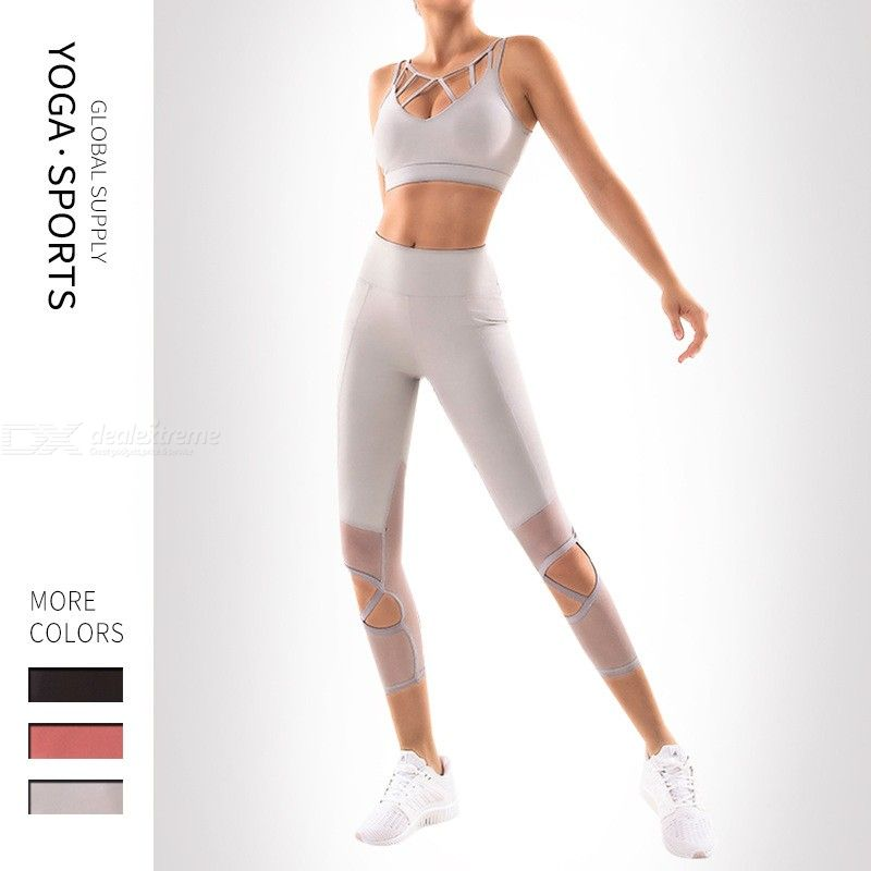 Workout | Tight | Sport | Women | Yoga | Tank | Mesh | Pant | Top
