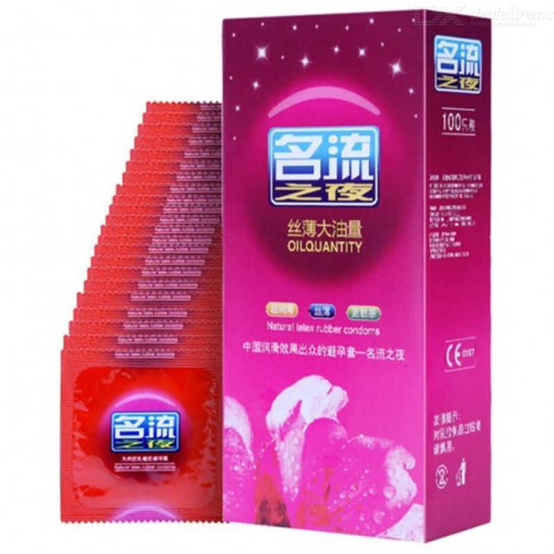 Image of 100 pcs Condoms Ultra-thin Lubricated Condoms for Men Sex Products